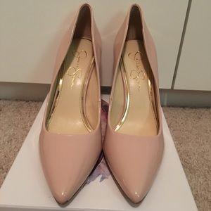 Jessica Simpson baby pink heels